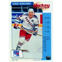 1992-93 Panini Stickers FRENCH c. 234 Nemchinov Sergei NYR