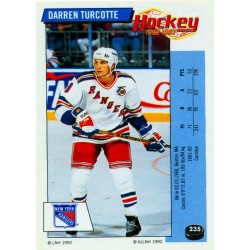 1992-93 Panini Stickers FRENCH c. 235 Turcotte Darren NYR