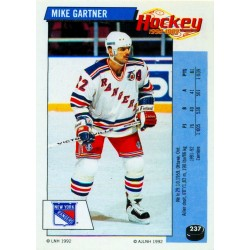 1992-93 Panini Stickers FRENCH c. 237 Gartner Mike NYR