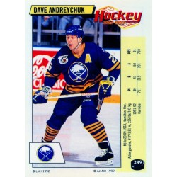 1992-93 Panini Stickers FRENCH c. 249 Andreychuk Dave BUF