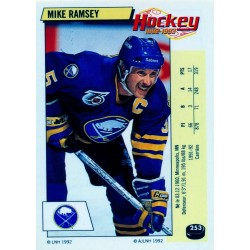 1992-93 Panini Stickers FRENCH c. 253 Ramsey Mike BUF