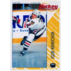 1992-93 Panini Stickers FRENCH c. 297 Kravchuk Igor CHI