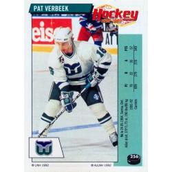 1992-93 Panini Stickers FRENCH c. 256 Verbeek Pat HFD
