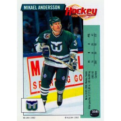1992-93 Panini Stickers FRENCH c. 258 Andersson Mikael HFD