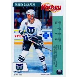 1992-93 Panini Stickers FRENCH c. 263 Zalapski Zarley HFD
