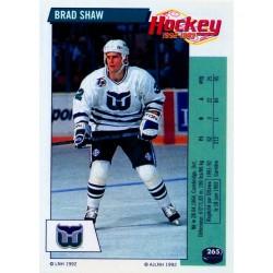 1992-93 Panini Stickers FRENCH c. 265 Shaw Brad HFD