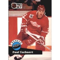 1991-92 Pro Set French c. 608 Ysebaert Paul DET