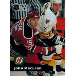 1991-92 Pro Set French c. 136 MacLean John NJD