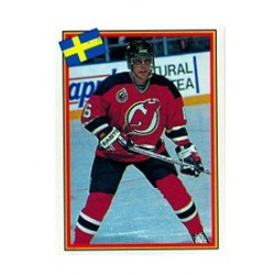 1992-93 Swedish Semic Stickers Tommy Albelin c. 28 NJD
