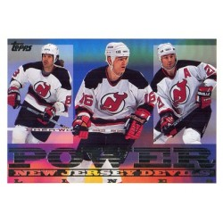 1995-96 Topps Power Line Mike Peluso / Bobby Holik / Randy McKay c. 10PL NJD