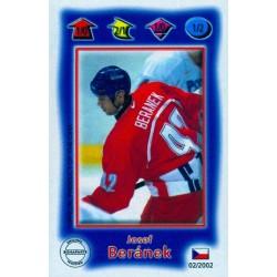 2001-02 Czech Bonaparte IQ Sport Blue c. 002 Josef Beranek CZE