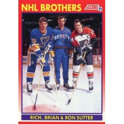 1991-92 Score Canadian English c. 268 Rich, Brian, Ron Sutter STL