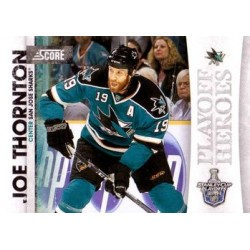 2010-11 Score Playoff Heroes c. 08 Joe Thornton SJS