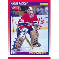1991-92 Score Canadian English c. 285  [Top Prospect] Andre Racicot MON