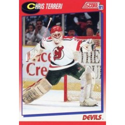 1991-92 Score Canadian Billingual (Red) c. 151 Chris Terreri