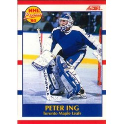 1990-91 Score Canadian Prospect c. 414 Peter Ing TOR