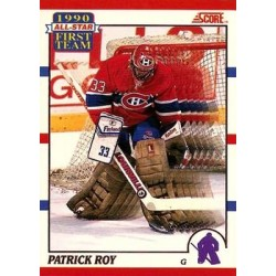1990-91 Score Canadian All Star Team c. 312 Patrick Roy MON