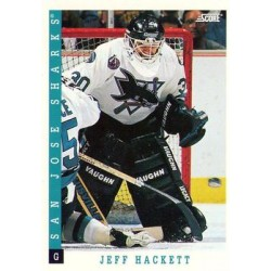 1993-94 Score Canadian c. 038 Jeff Hackett SJS