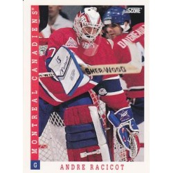 1993-94 Score Canadian c. 437 Andre Racicot MON