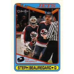1990-91 O-Pee-Chee c. 223 Steph Beauregard WIN