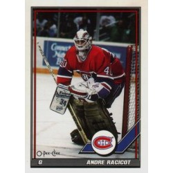 1991-92 O-Pee-Chee c. 450 Andre Racicot MON