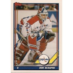 1991-92 Topps c. 505 Don Beaupre WSH