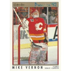 1991-92 O-Pee-Chee Premier c. 009 Mike Vernon CGY