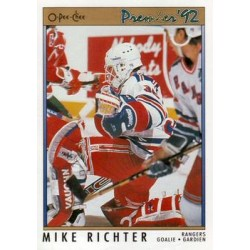 1991-92 O-Pee-Chee Premier c. 078 Mike Richter NYR