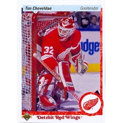 1990-91 Upper Deck c. 393 Tim Cheveldae DET