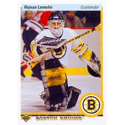 1990-91 Upper Deck c. 215 Rejean Lemelin BOS