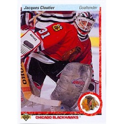 1990-91 Upper Deck c. 114 Jacques Cloutier CHI