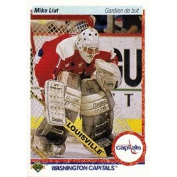 1990-91 Upper Deck French c. 127 Mike Liut WSH