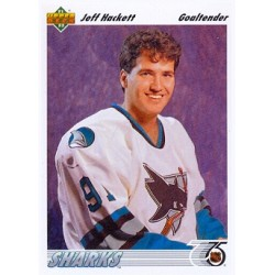 1991-92 Upper Deck c. 058 Jeff Hackett SJS