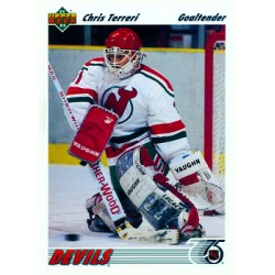 1991-92 Upper Deck c. 115 Chris Terreri NJD