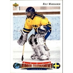 1991-92 Upper Deck World Junior Tournament c. 223 Rolf Wanhainen SWE