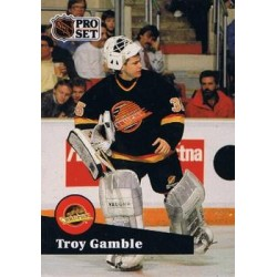 1991-92 Pro Set French c. 238 Troy Gamble VAN