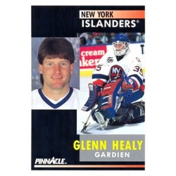 1991-92 Pinnacle Canadian c. 185 Glenn Healy NYI